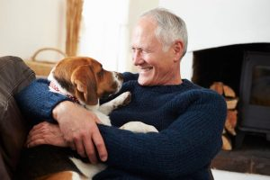 senior with dog | Ultimate Pet Nutrition