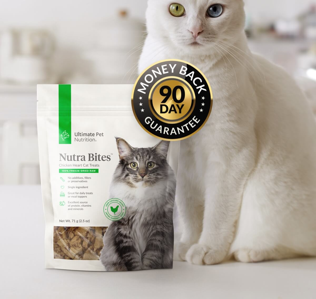 Ultimate Pet Nutrition - Nutra Bites Chicken Hearts For Cats